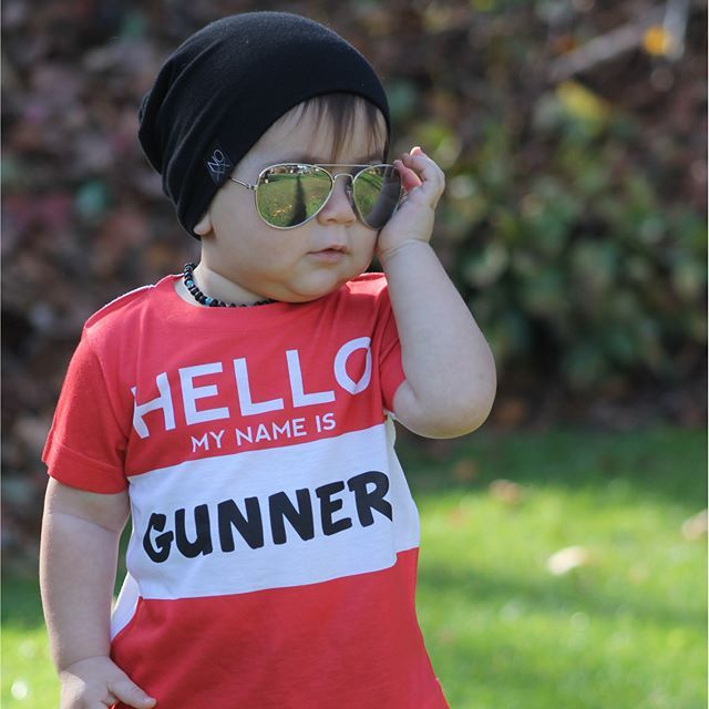 Gunner knows that the sun never sets in Cool Town...but we are loving this sunny day pic!