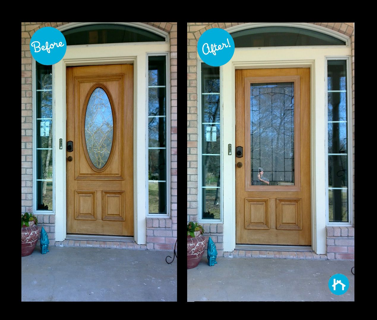 Why Not Go For A More Modern Look The Previous Door Glass Was