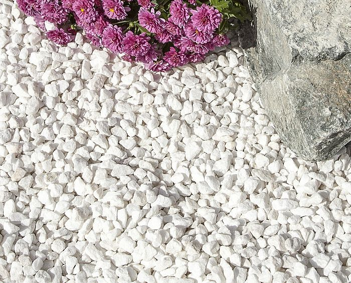 polar white gravel 10mm decorative aggregates mulching pathways driveways decorative. Black Bedroom Furniture Sets. Home Design Ideas