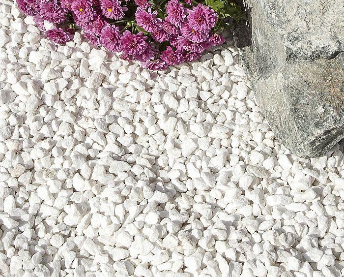 Polar White Gravel 10mm White Gravel Landscaping With Rocks Hydrangea Care
