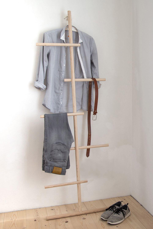 Wendra Kleiderleiter Kleiderleiter Kleiderregal Kleiderstander Holz