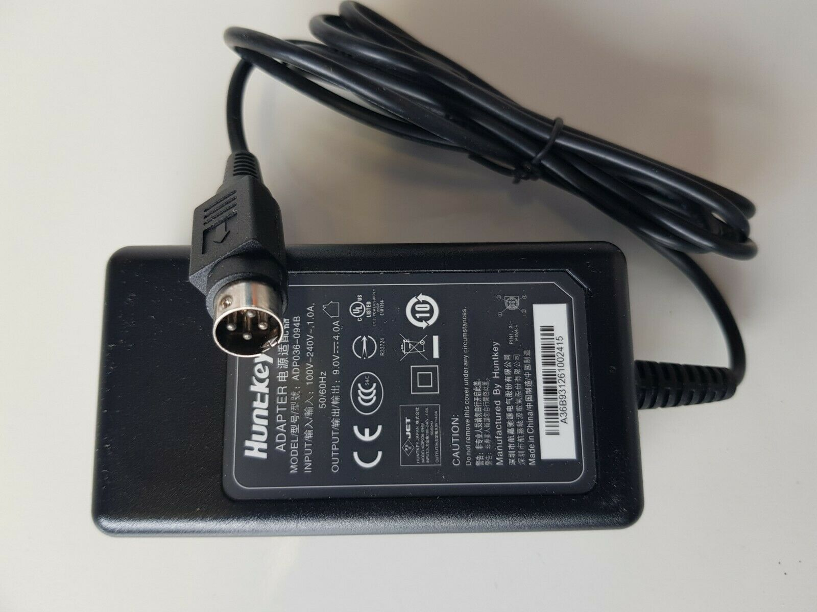 100 Brand New 9v 4a 4 Pin Huntkey Adp036 094b Ac Adapter Power Supply Power Supply Led Power Supply Cctv Security Cameras