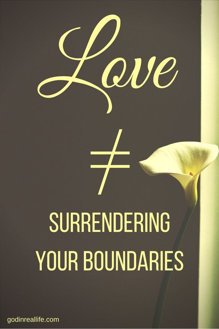 Does love have boundaries