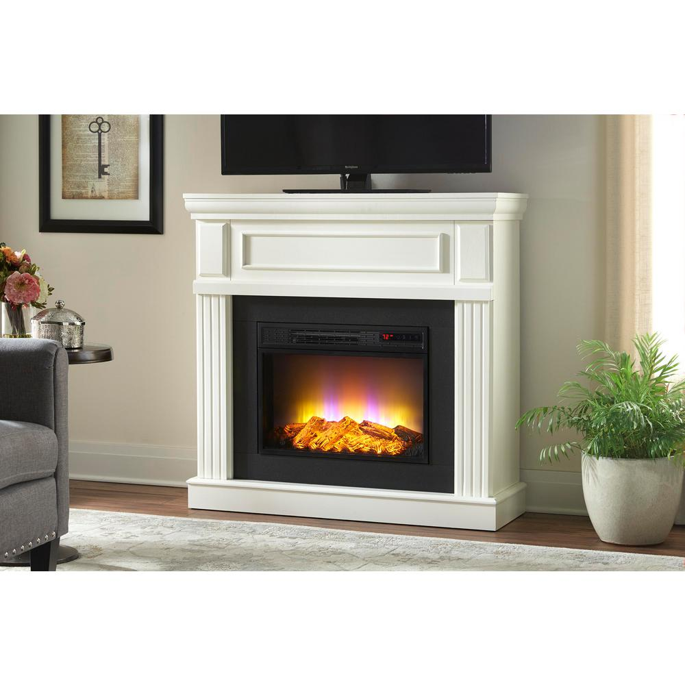 Home Decorators Collection Grantley 40 In Freestanding Electric Fireplace In White 112319 White Electric Fireplace Freestanding Fireplace Electric Fireplace
