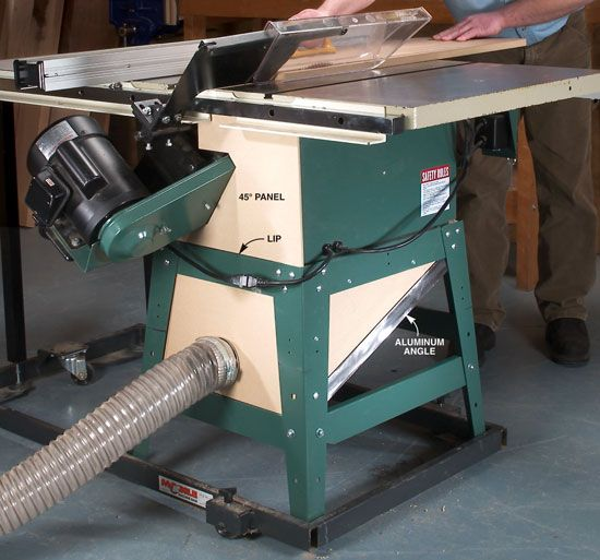 My Contractor Style Tablesaw Spewed Sawdust Everywhere
