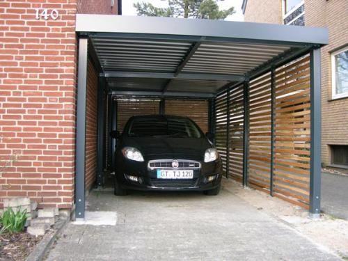 Carports uit verzinkt staal met vlak dak decoraci n for Garajes para carros