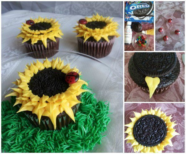How to DIY Oreo Sunflower Cupcake #sunflowercupcakes DIY Oreo Sunflower Cupcake, let's get sunshine with these easy made sunflower cupcakes for snacks or party. Ingredients you may need: ----  More DIY Ideas ---- Cooled cupcakes Yellow frosting (for exemple:… #sunflowercupcakes How to DIY Oreo Sunflower Cupcake #sunflowercupcakes DIY Oreo Sunflower Cupcake, let's get sunshine with these easy made sunflower cupcakes for snacks or party. Ingredients you may need: ----  More DIY Ideas - #sunflowercupcakes