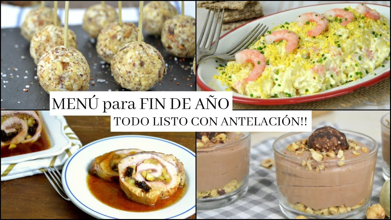 Menú Para Fin De Año Déjalo Todo Listo Antes De Nochevieja Menu Fin De Año Cena Fin De Año Cenas De Navidad