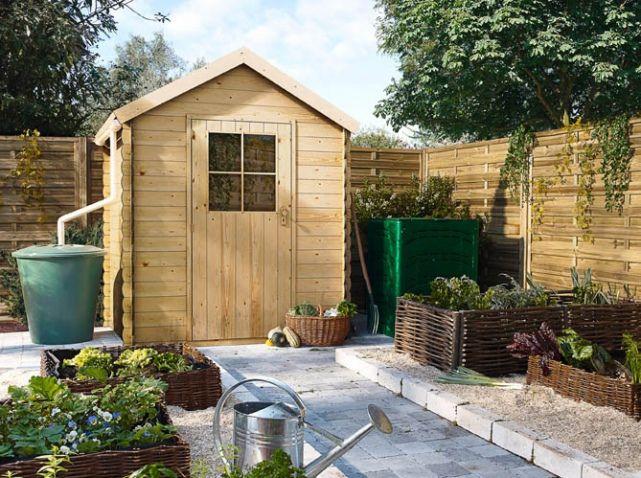 Petite cabane de jardin bois castorama fleurs et potager for Cabane jardin castorama