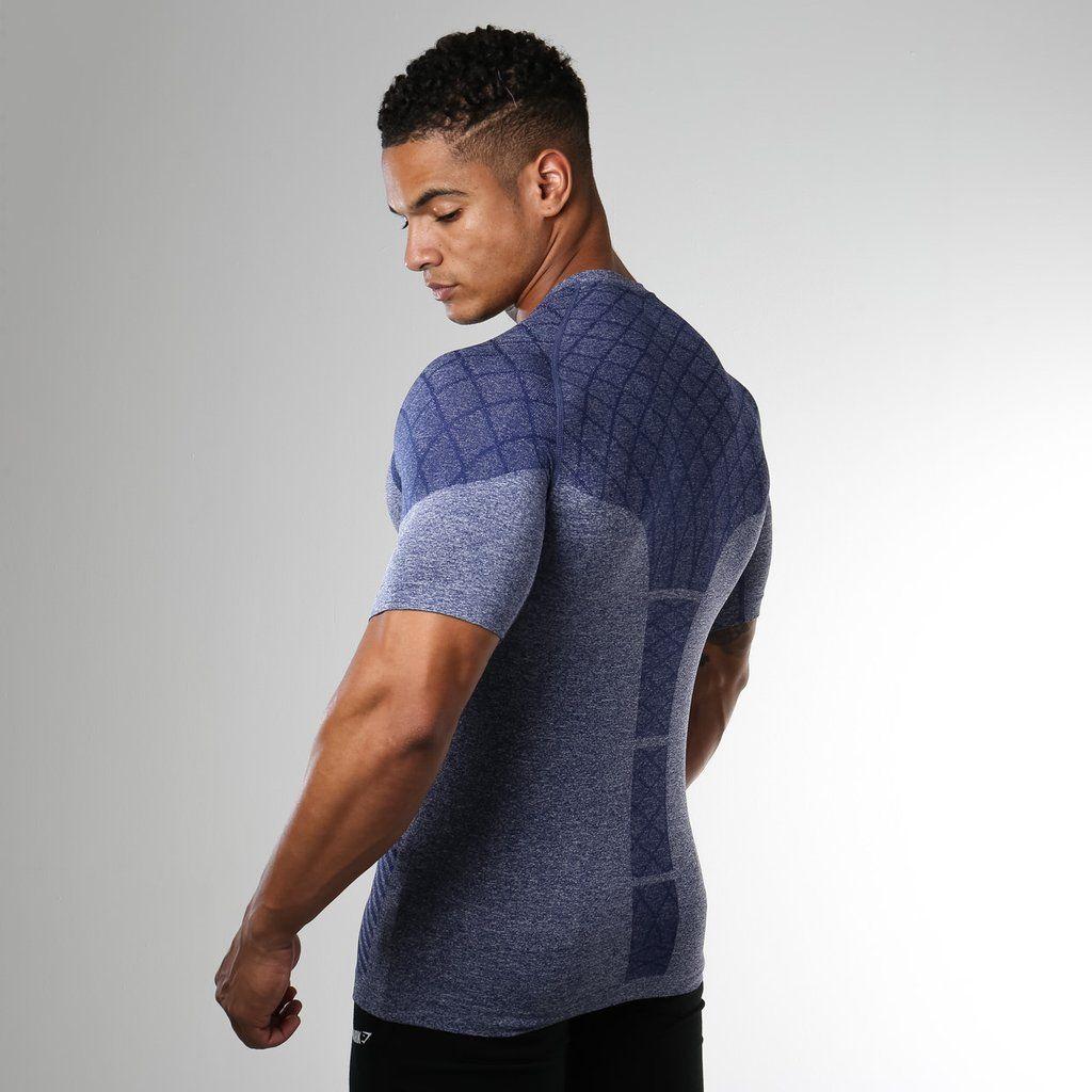 b5fe86bd2ece4 Gymshark Devant Seamless T-Shirt - Navy Blue at Gymshark