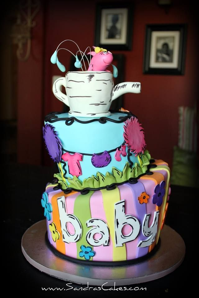 Change the baby to your name and what a wonderful birthday cake
