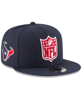 New Era Houston Texans Team Shield 9FIFTY Snapback Cap - Blue Adjustable