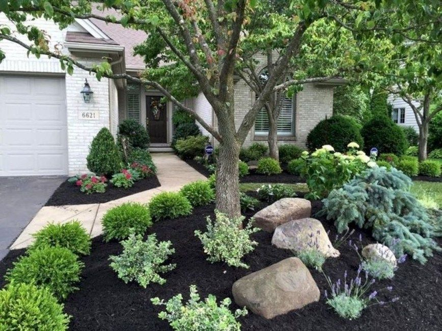 40 Gorgeous Front Yard And Backyard Landscaping A Low Budget Decoarchi Com Cheap Landscaping Ideas Backyard Landscaping Designs Farmhouse Landscaping