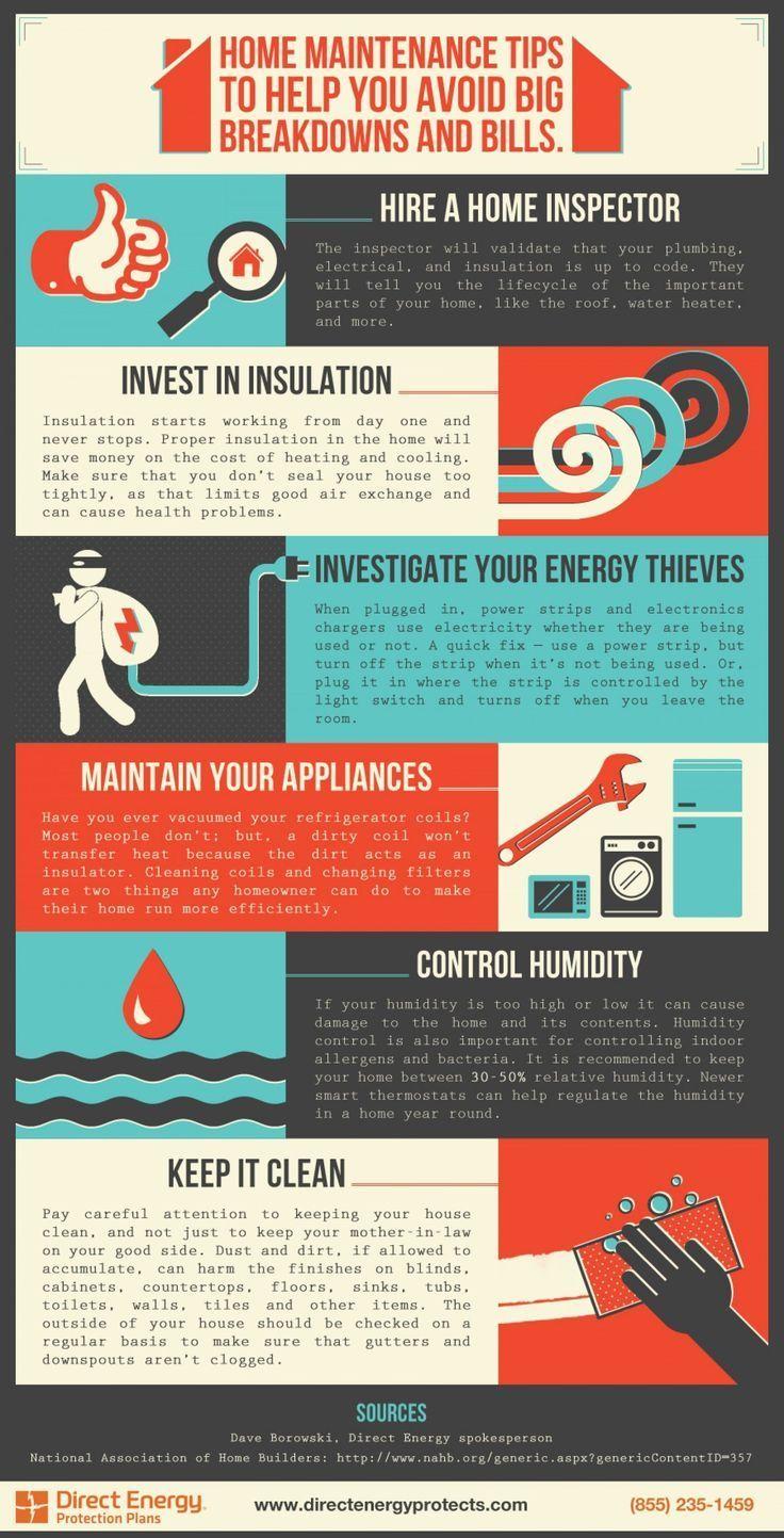 Home maintenance tips infographic home maintenance