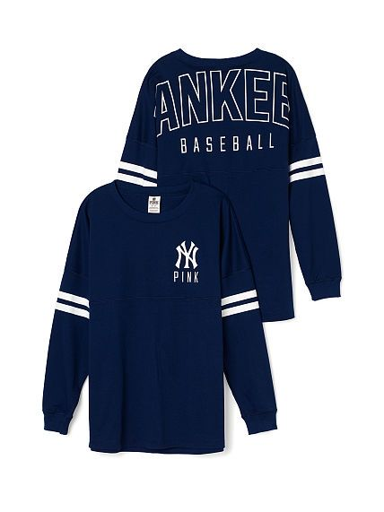 75b2fd3007 New York Yankees Varsity Crew - PINK - Victoria s Secret