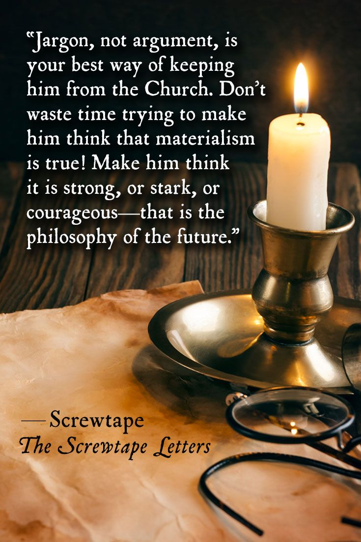 Screwtape on the use of jargon in The Screwtape Letters by C S