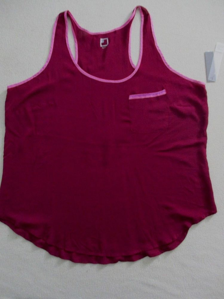 6fef461275ded2 Women Top XL Burgundy Sleeveless Racerback JCP 1833  JCPenney  Blouse   Casual