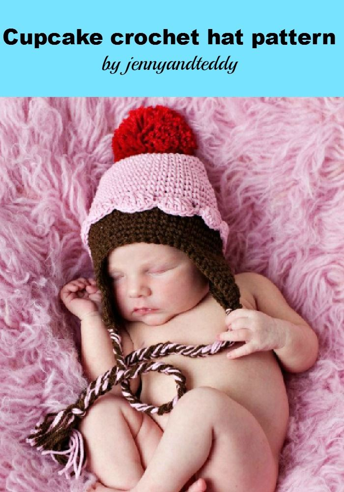 PDF pink cupcake crochet hat pattern. If u are skilled enough you ...