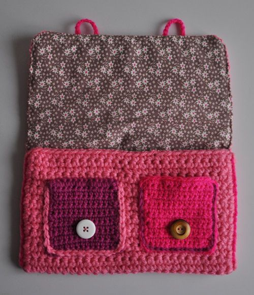 Cartable rose Number Two ! | Julypouce tricote