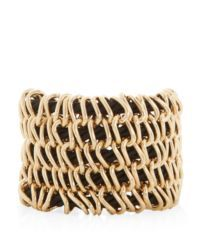 Black Woven Link Cuff
