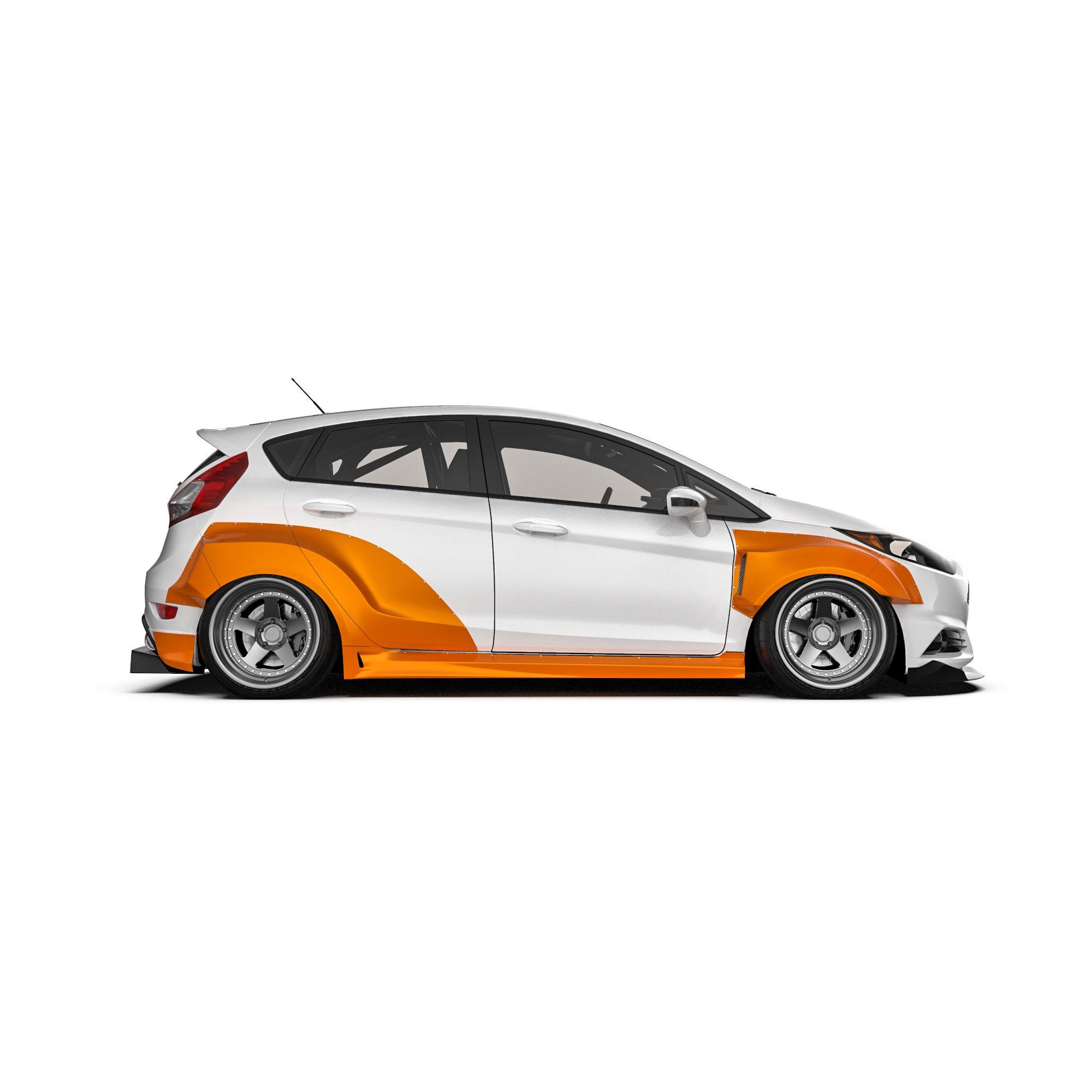 Ford Fiesta Mk7 5dr Wide Body Kit Krotov Pro In 2020 Wide Body Kits Body Kit Ford Fiesta