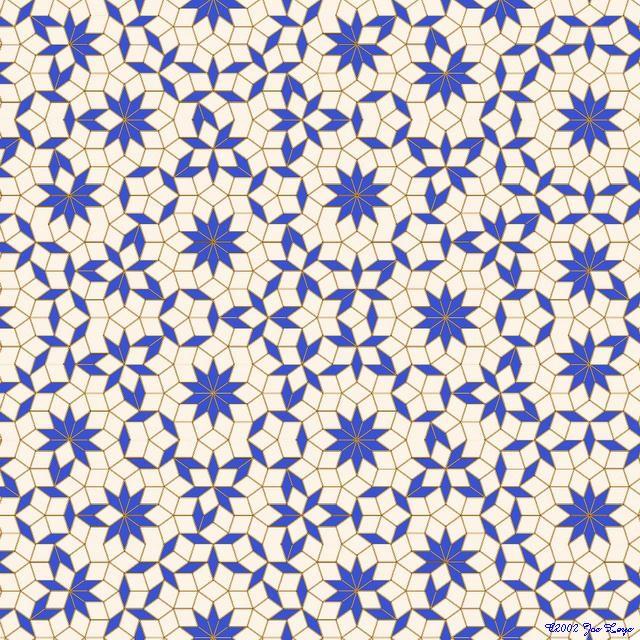 Gallery  Penrose tilings الزليج Zelij Pinterest Penrose - hexagon graph paper