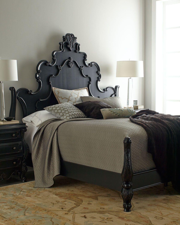 Master bedroom furniture ideas  Nicolette Black Bedroom Furniture  Horchow  home sweet home