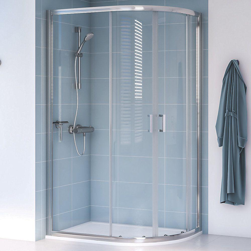 Aqualux Edge 8 Offset Quadrant Shower Enclosure Reversible Left