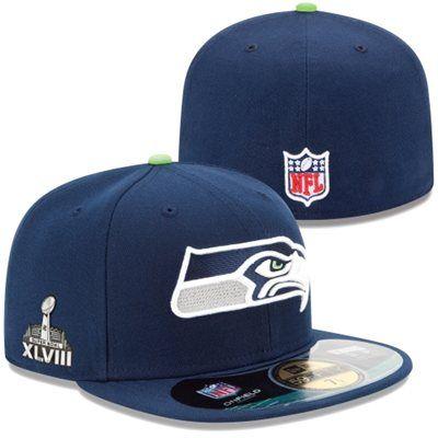 7b267f3a New Era Seattle Seahawks Super Bowl XLVIII On-Field Side Patch ...