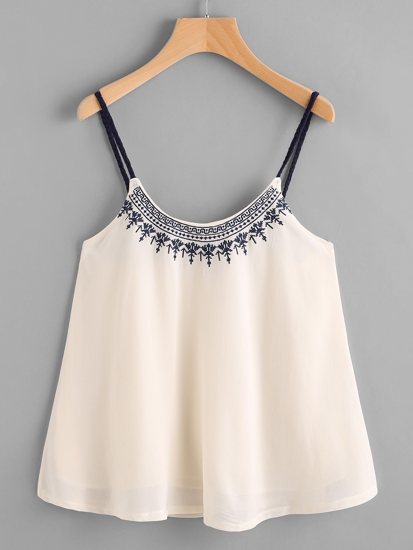 37400c426165a2 Shop Embroidered Chiffon Cami Top online. SheIn offers Embroidered Chiffon Cami  Top   more to fit your fashionable needs.