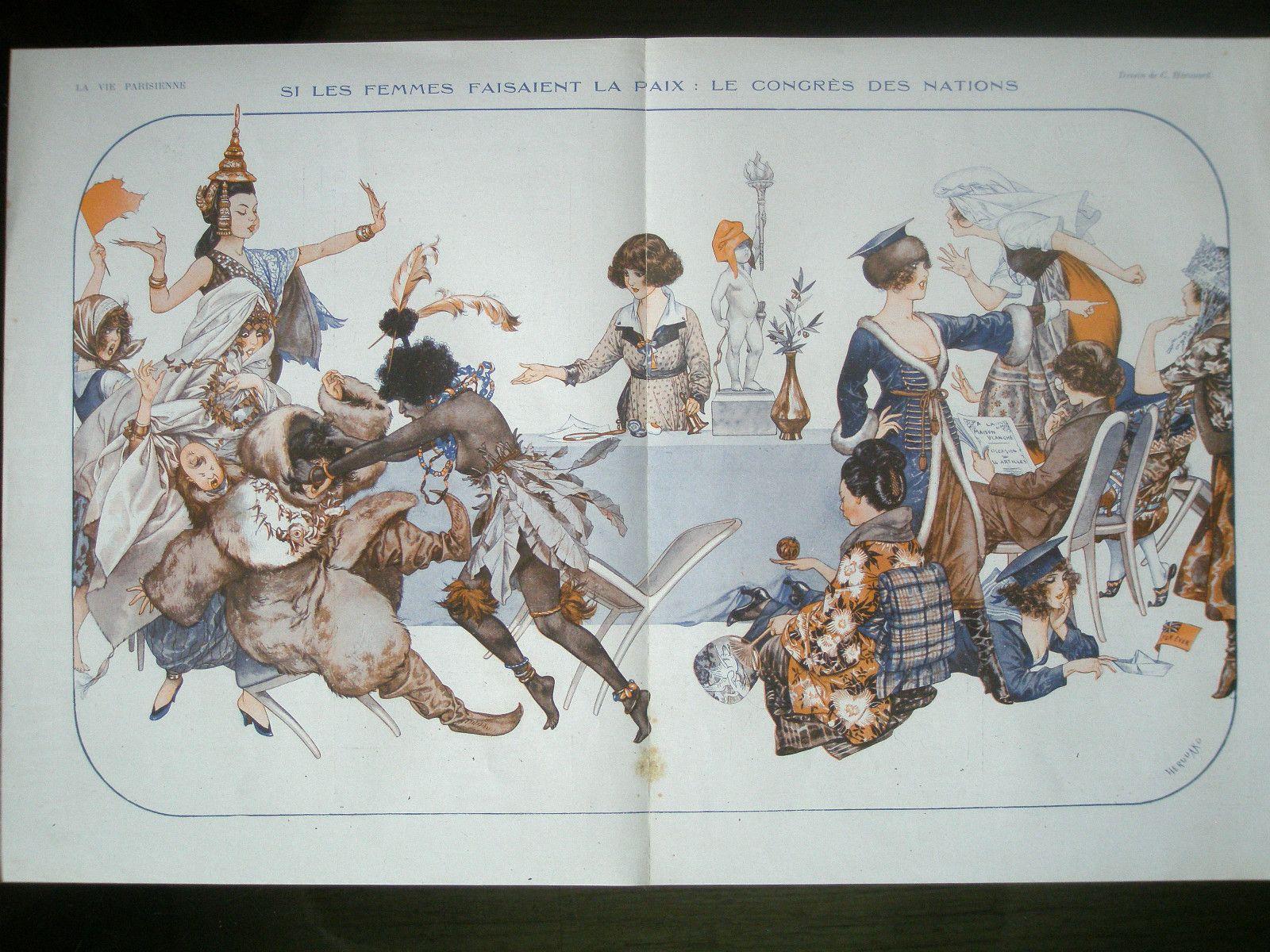 1919 La Vie Parisienne centerfold / eBay