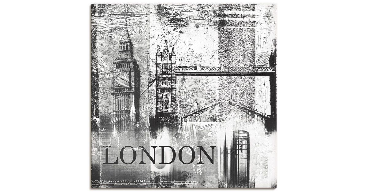 Photo of Poster, Leinwandbild, Leinwandbild, Kunstdruck Poster »London Skyline Collage Architektur Digitale K