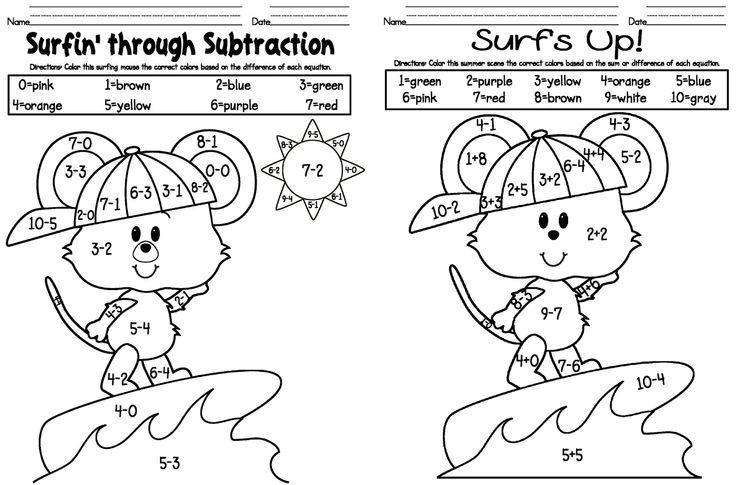 Worksheet Kindergarten Color Tim Với Google Kindergarten Addition Worksheets Kindergarten Coloring Sheets Addition Coloring Worksheet