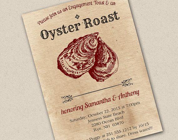 oyster roast invitation invitations