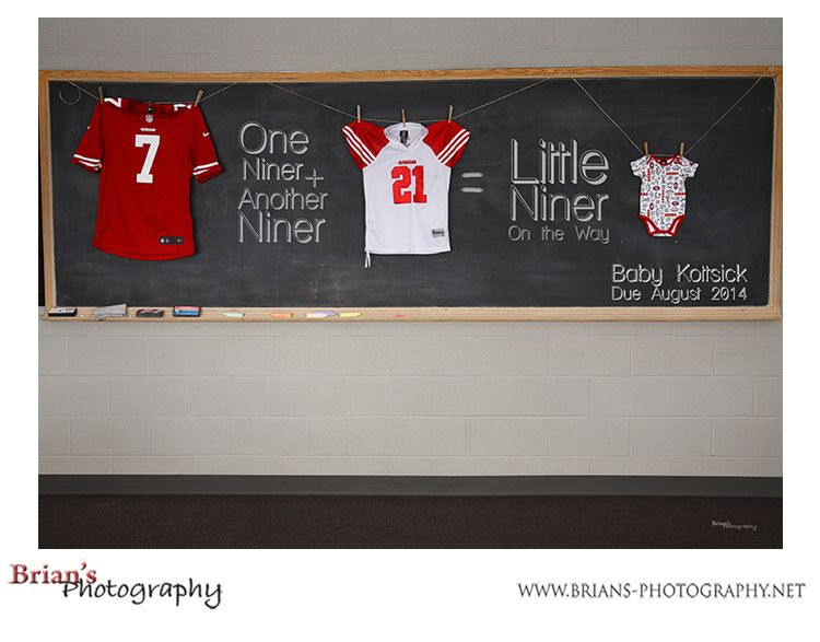 Baby Announcement 49ers football – Football Birth Announcements