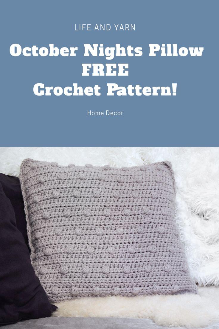 October nights pillow free crochet pattern crochet pinterest
