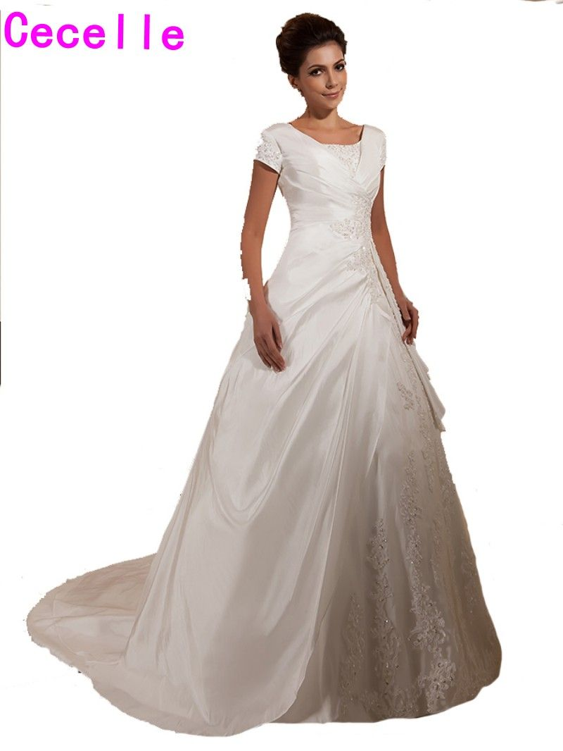 Best wedding dresses aliexpress   Real Designer Modest Ball Gown Wedding Dresses Bridal Gowns