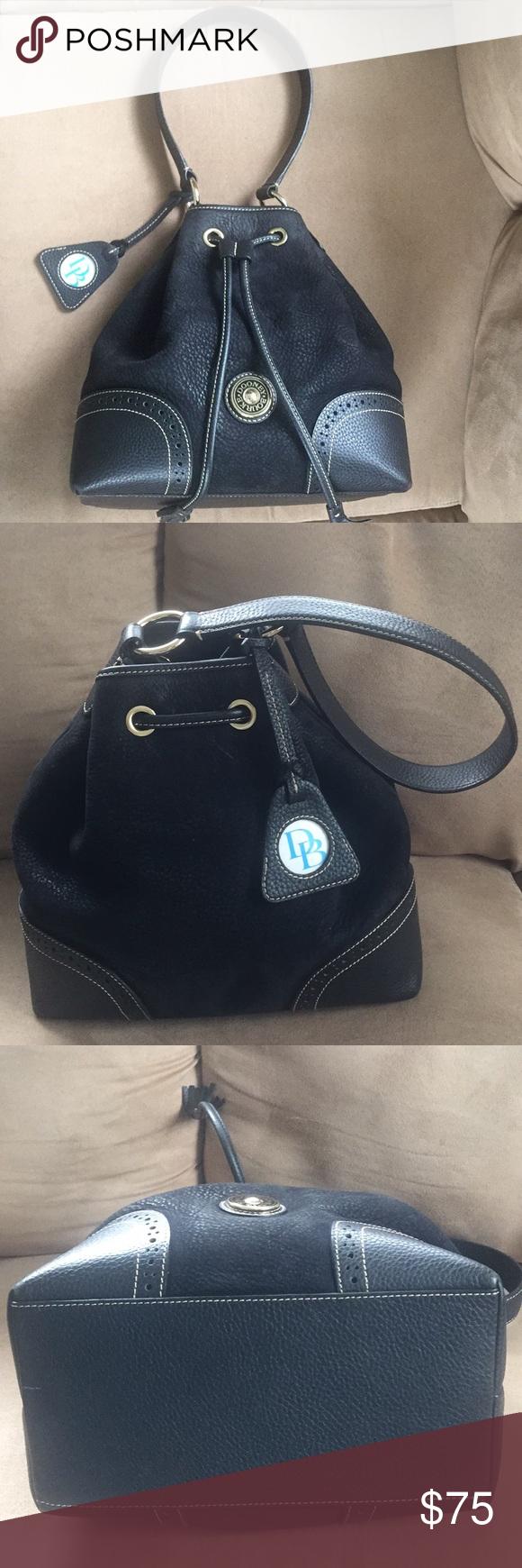 Bourke Black Suede Bucket Bag