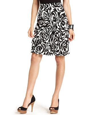 74e081316 INC International Concepts Skirt, Floral-Print Tiered Ruffle - Womens Skirts  - Macy's