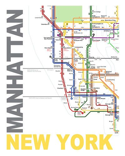 Nyc Subway Map Canvas Wall Art.Manhattan Map By Ani Keshishyan For The Home Art Canvas Wall