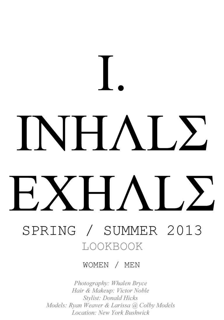 Florian Wowretzko - Inhale/Exhale Menswear Collection #inhaleexhaletattoo