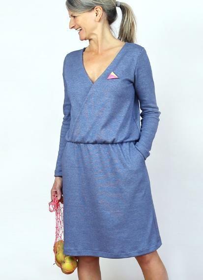 Kleid in wickeloptik nahen