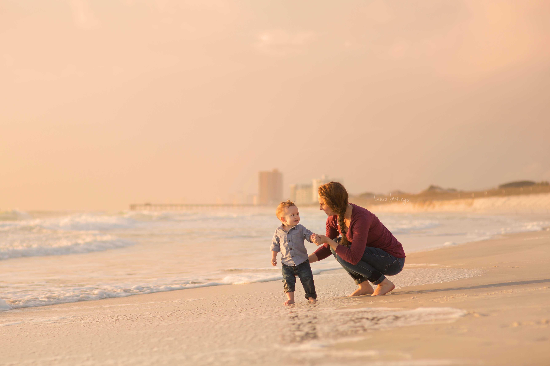 Panama City Beach Sunset Family Pictures - LJennings