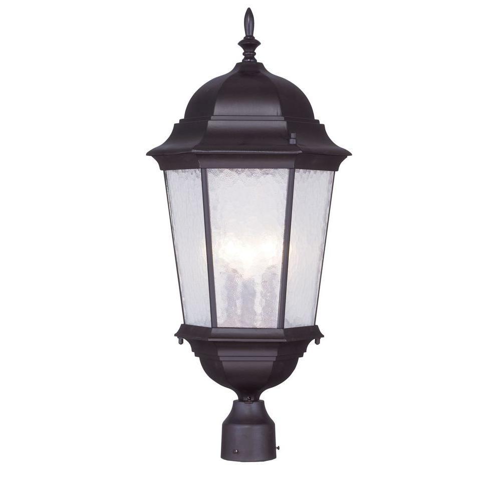 Livex Lighting Providence 3 Light Outdoor Bronze Incandescent Post Head Light 7568 07 Outdoor Post Lights Livex Lighting Lantern Post