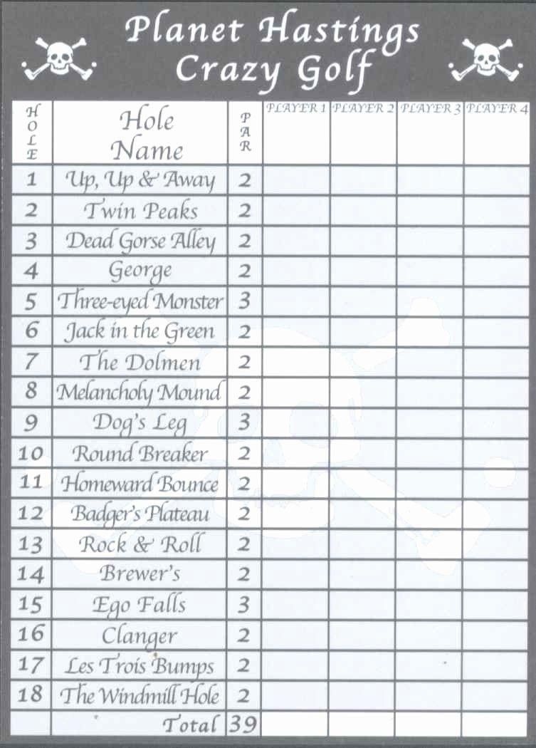 Golf Scorecard Template Unique Score Cards Of Crazy Golf Miniature Golf And Adventure Golf Scorecard Golf Score Card Template