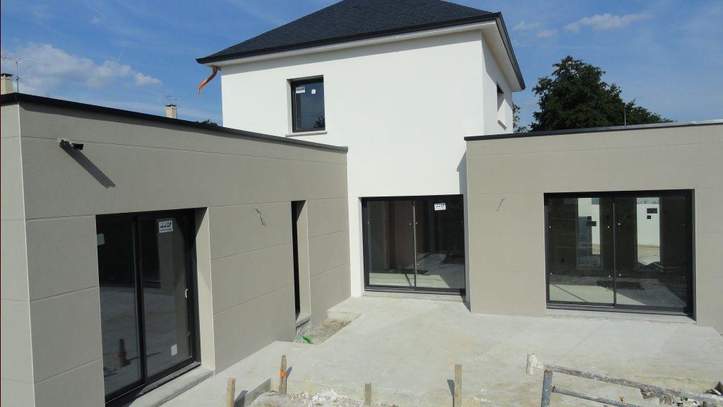 Enduit cr pis facade carquefou loire atlantique 44 juin 2013 maison fa ade - Couleur crepi facade maison ...