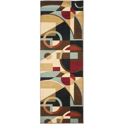 "Zipcode Design Nanette Flower-Petal Black / Multi Contemporary Rug Rug Size: Runner 2'4"" x 6'7"""