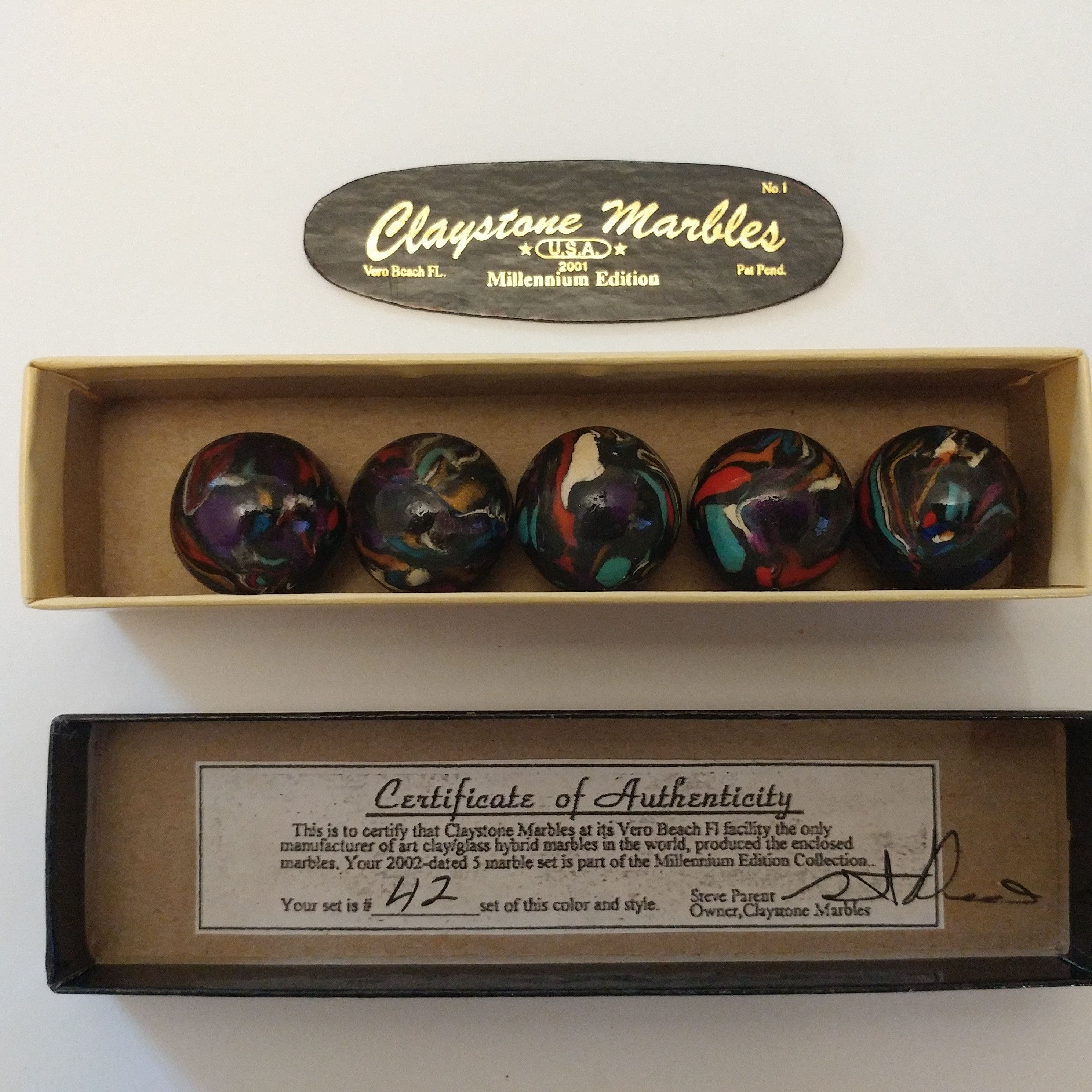 Original Clay Marbles By Steve Parent Claystone Marbles