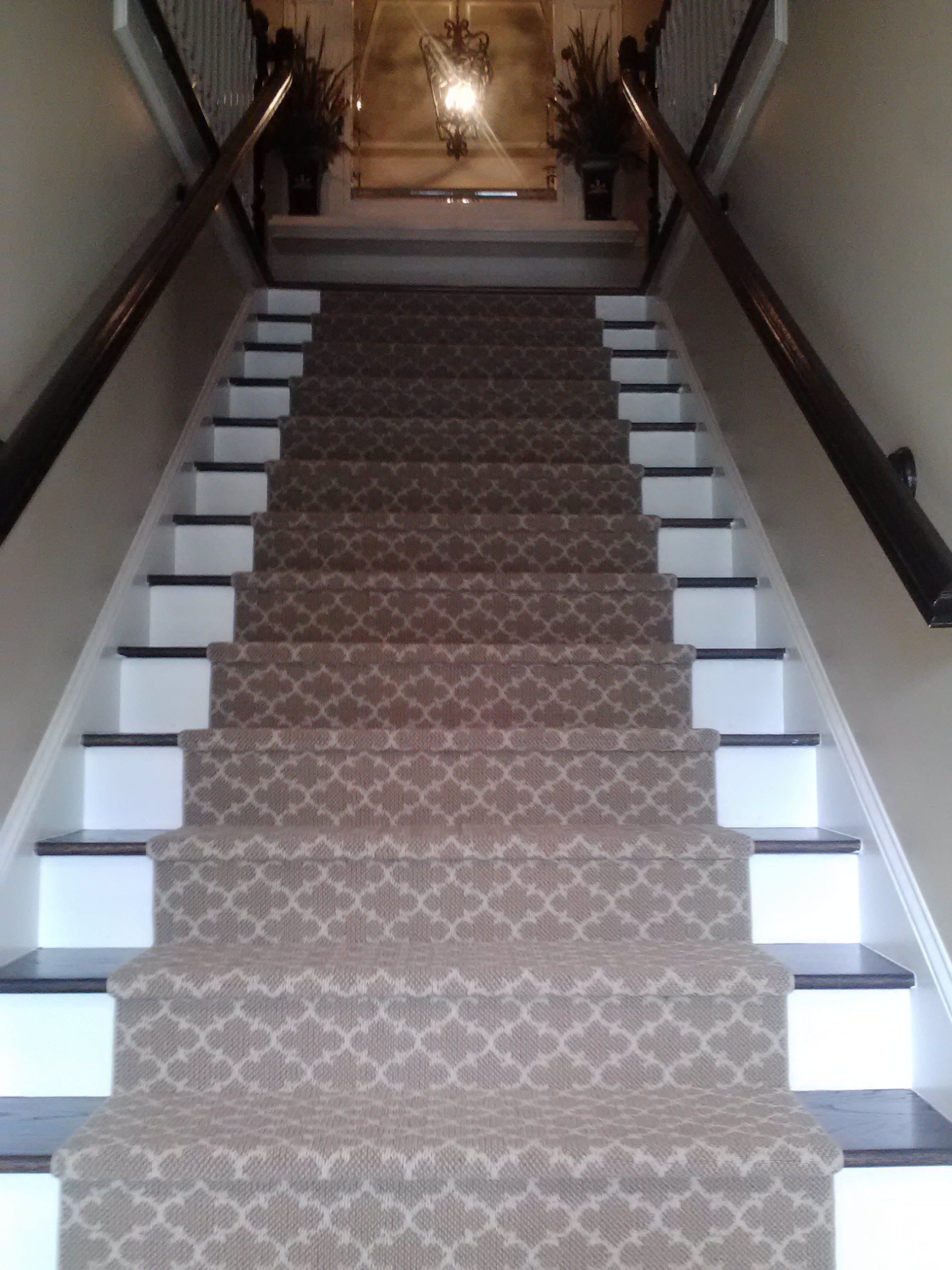 Alhambra Custom Stair Runner Installed By Gregoryu0027s Paint U0026 Flooring
