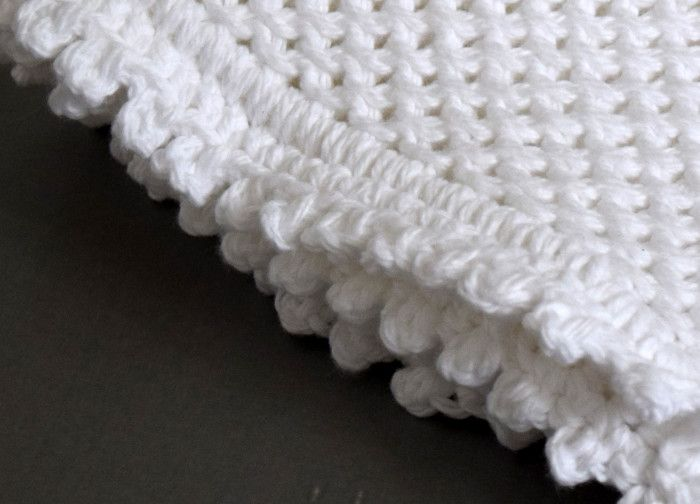 A crocheted and hand knit washcloth pattern using the Chinese Wave ...